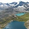 Laghi d'agosto, tra le nuvole. Parco Naturale del Gran Paradiso. Vista sul lago Serrù, ghiacciaio e lago Agnel [no qui non c'era campo, solo silenzio] @PnGranParadiso