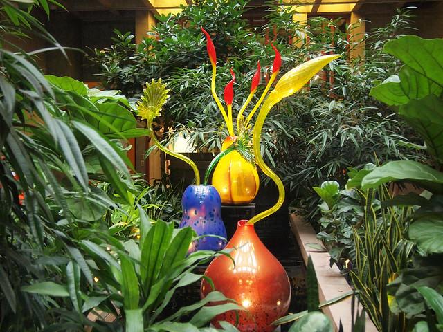 Ikebana by Dale Chihuly at Denver Botanic Gardens
