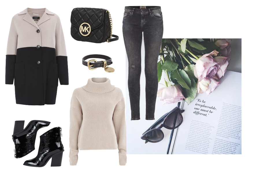 Fashion ID herbst outfit beige schwarz styling collage moodboard CATS & DOGS Ricarda Schernus blog 1