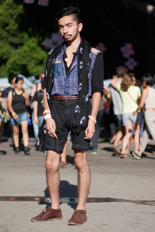daniel_vest street style, street fashion, men, quick shots, Los Angeles, FYF Fest