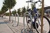 21657 Bike racks on Fourth Street pathway at UCSF Mission Bay