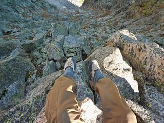 Foot Dangle from Little Matterhorn