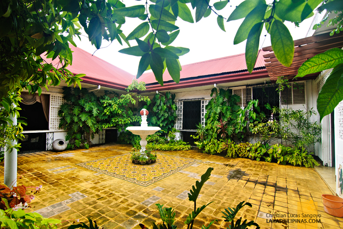 Courtyard at Syquia Mansion in Vigan City