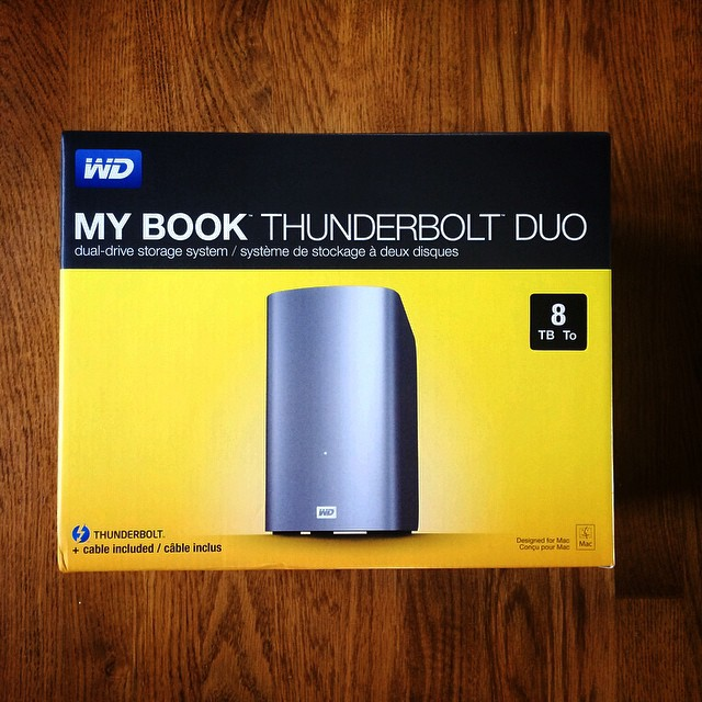 Mmmmm... 8TB of @westerndigital storage.  Looking forward to trying this puppy out!