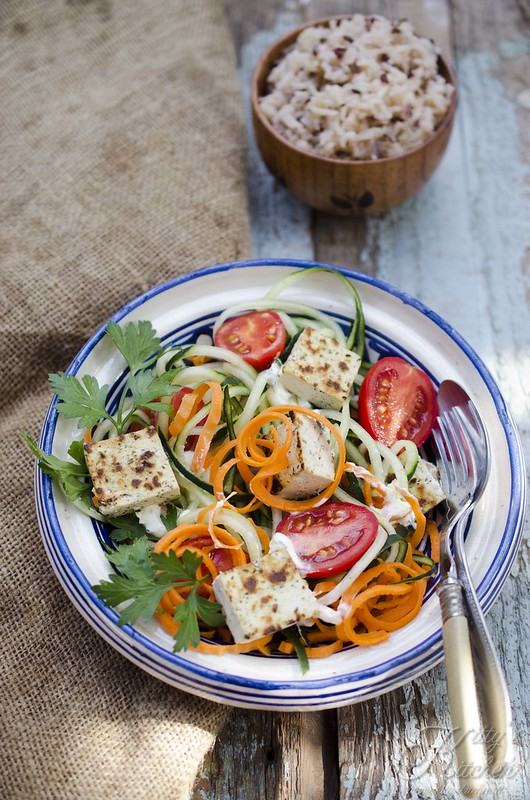 tofu noodle vegetables