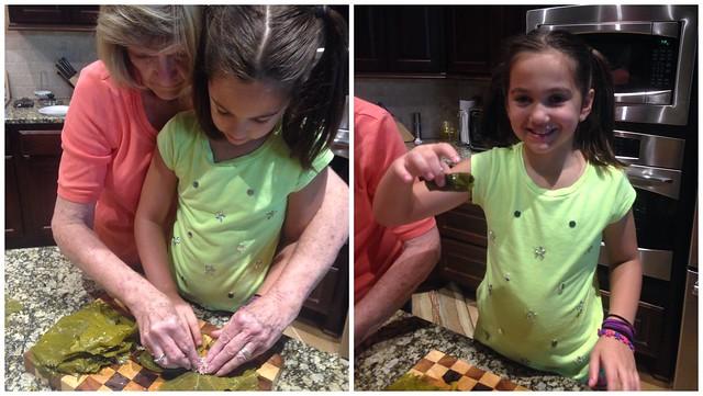 Making grape leaves