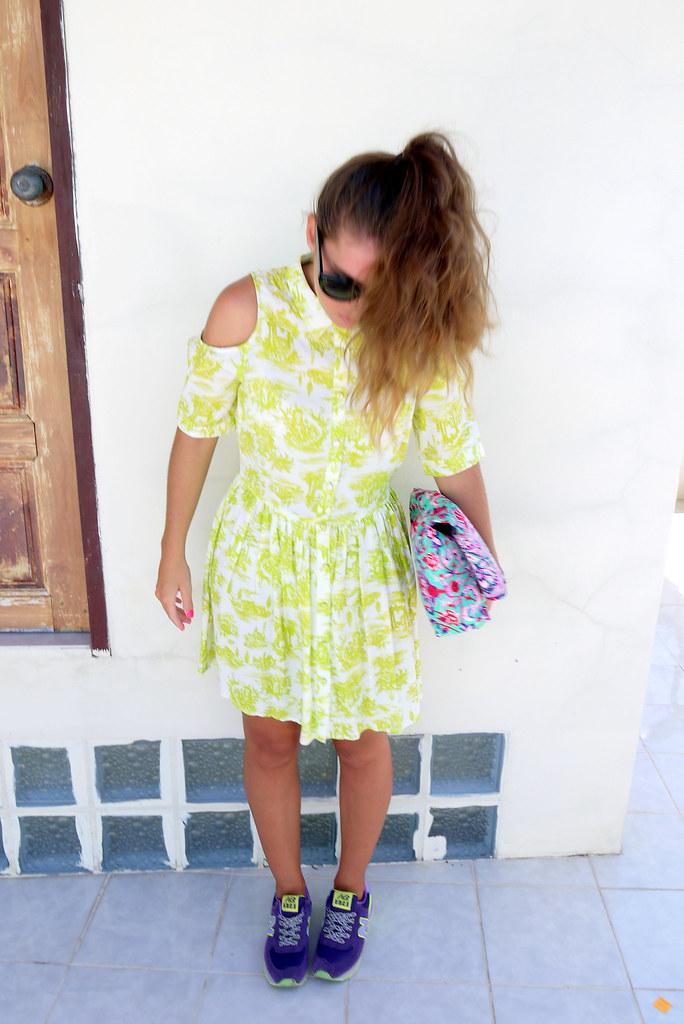 Topshop neon dress - Kirsty Wears Style Blog