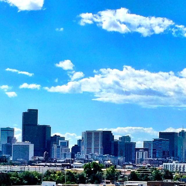 The Denver Skyline From TAXI Yesterday. Beauty