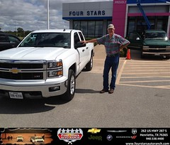 Congratulations to Big Al Lewis on your #Chevrolet #Silverado 1500 purchase from Mark Havens at Four Stars Auto Ranch! #NewCar