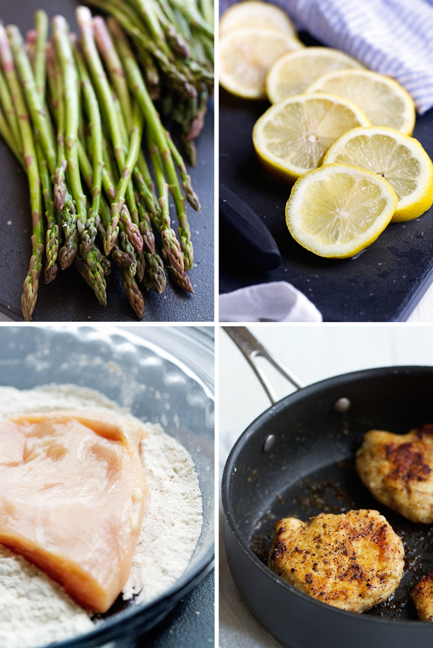Simple Lemon Chicken with Asparagus - This recipe takes just 25 minutes and less than 10 ingredients! #chicken #lemonchicken #asparagus | Littlespicejar.com