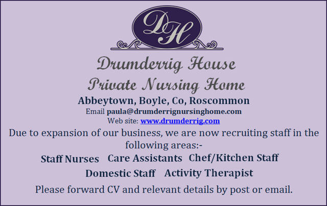 Drumderrig Job Vacancies