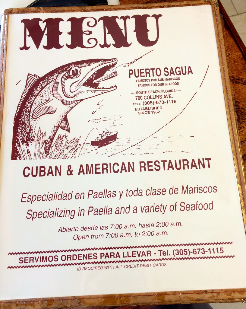 Puerto Sagua Restaurant Miami Beach FL Florida Retro Roadmap