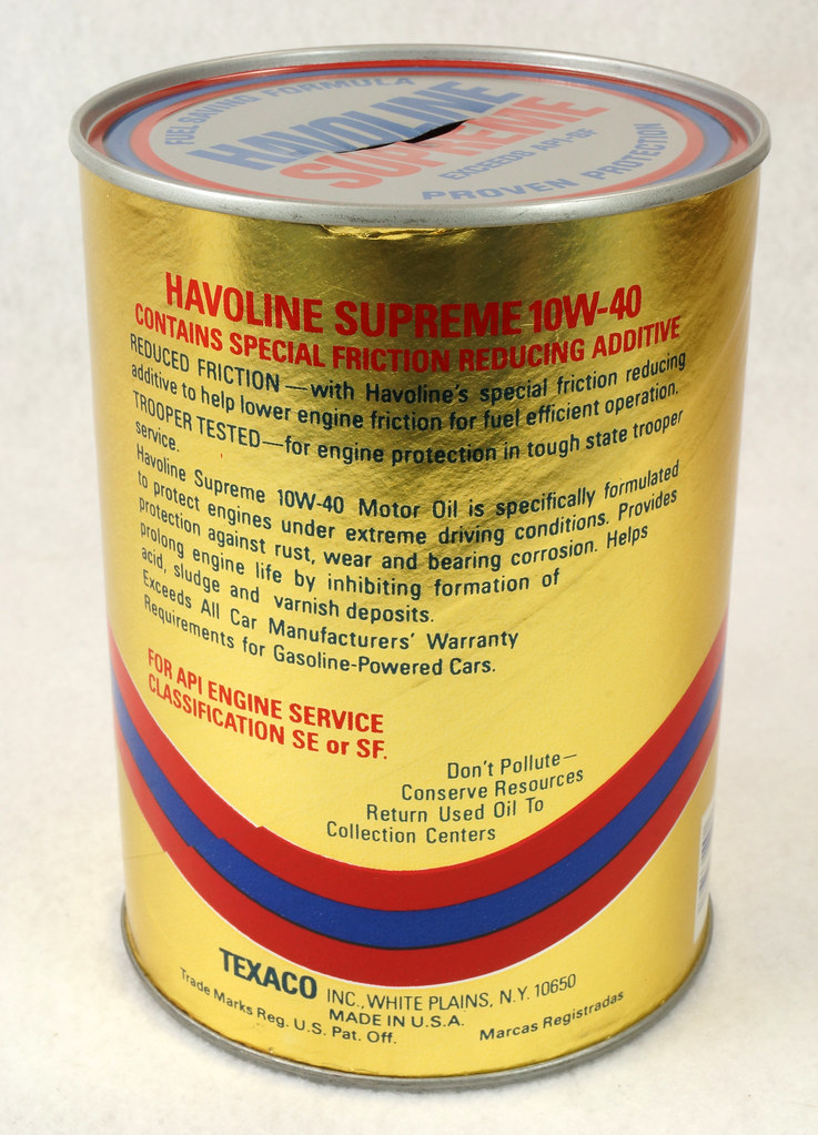 RD14906 Texaco Havoline Supreme Motor Oil Can Coin Bank DSC06459