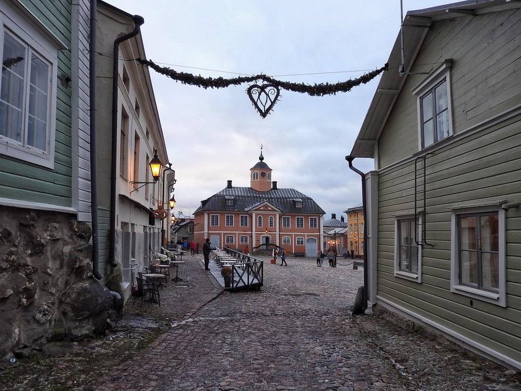Christmas time at the charming Porvoo