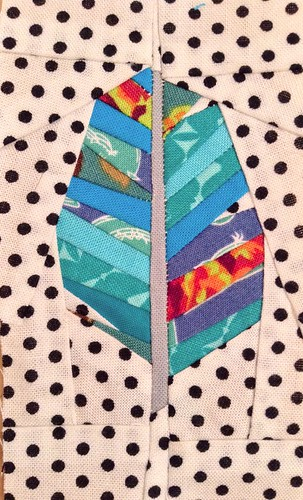 Paper pieced feather.