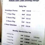 Makati Golf Club Price