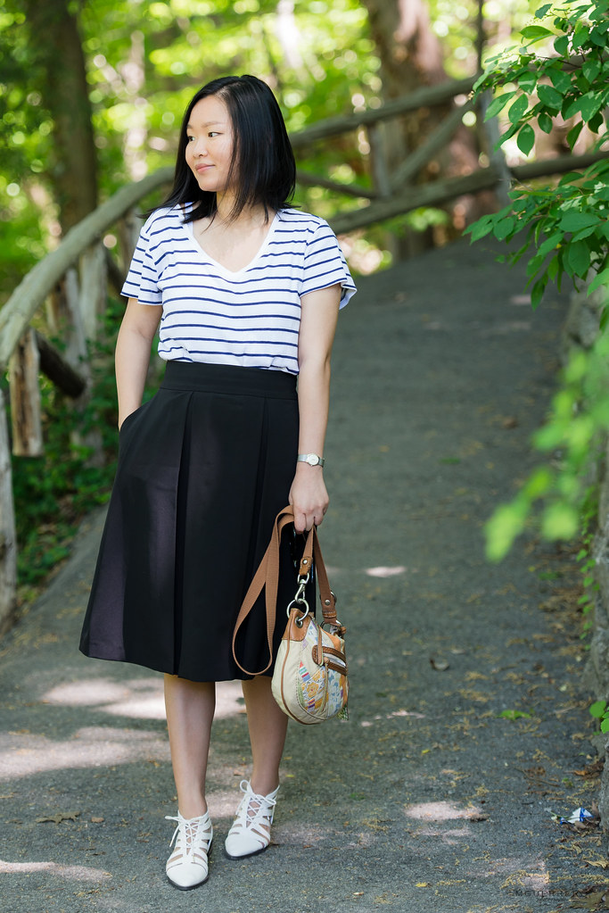 stripes and midi skirt 12