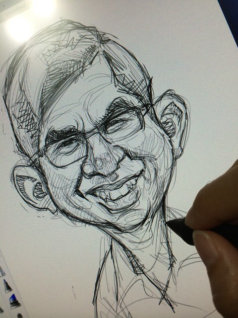 digital caricature for EO Singapore - Dr Yaacob Ibrahim