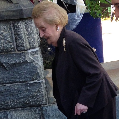 Madeleine Albright just walked past me omfg