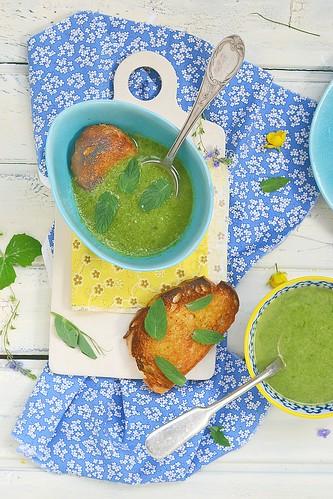 green onion  cream soup.2