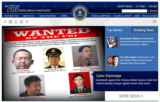 FBI Web Cyber espionage China