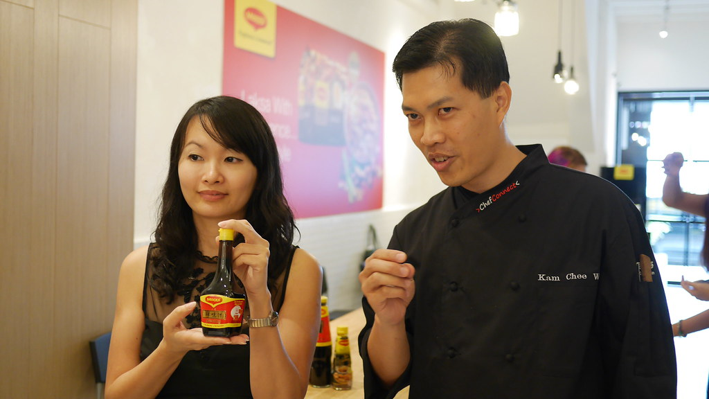 Nestle R&D development chef Kam Chee Wai highly recommends Maggi Liquid Seasoning as a soy sauce replacement