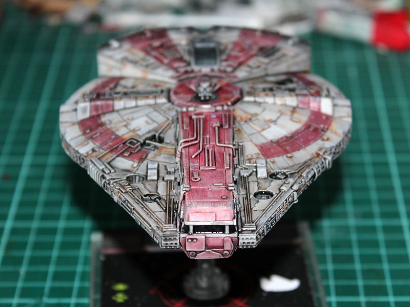 Red  X Wing Adding Paint Chips
