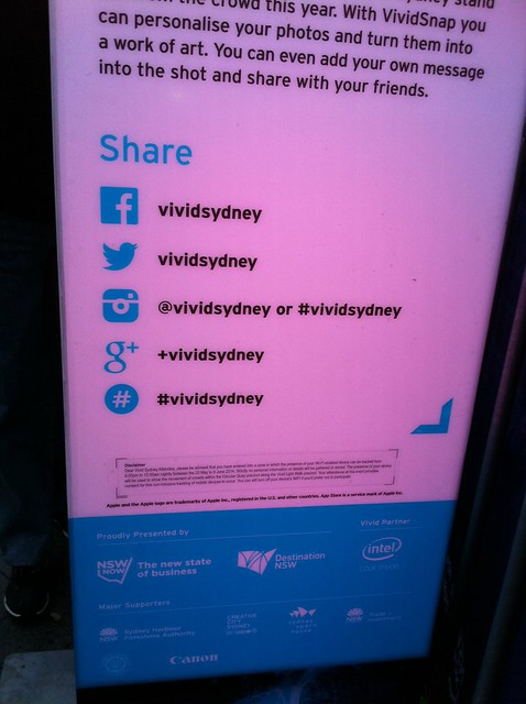 Sharing for #vividsydney