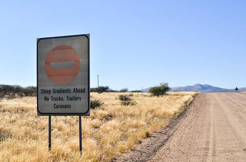 Warning for the Boshua pass