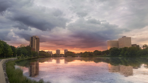 sunset sun ontario canada building water colors clouds reflections river nikon downtown colours ottawa strathconapark rideauriver d7100 bensenior nikond7100