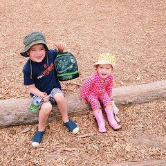 Little day campers #kids #siblings #fiveyearsold #twoyearsold #campers