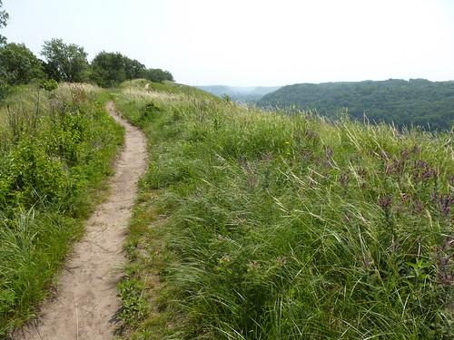 trail on bluff