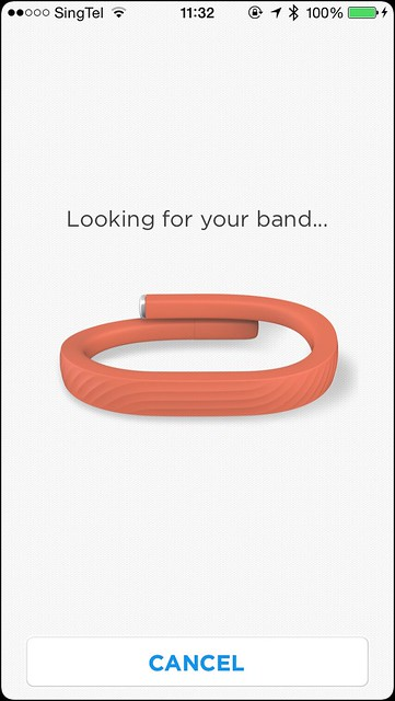 Jawbone UP iOS App - Setup Step 3