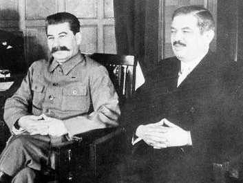 Pierre Laval y Josef Stalin