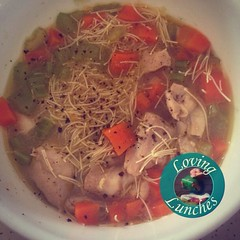 Lovingly new feel good favourite migraine deterrent… @kambrookau #soupsimple chicken noodle