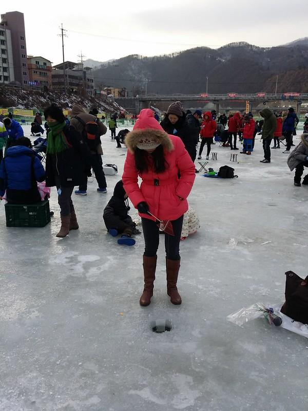 2014冬韓國清平冰釣鱒魚