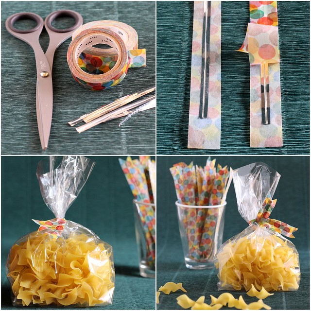 Dressing Up Your Twist Ties with Washi Tape