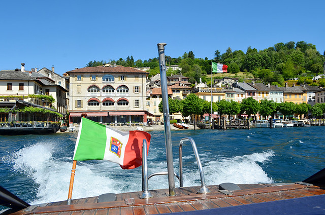 Motor launch, Orta San Giulio, Lake Orta