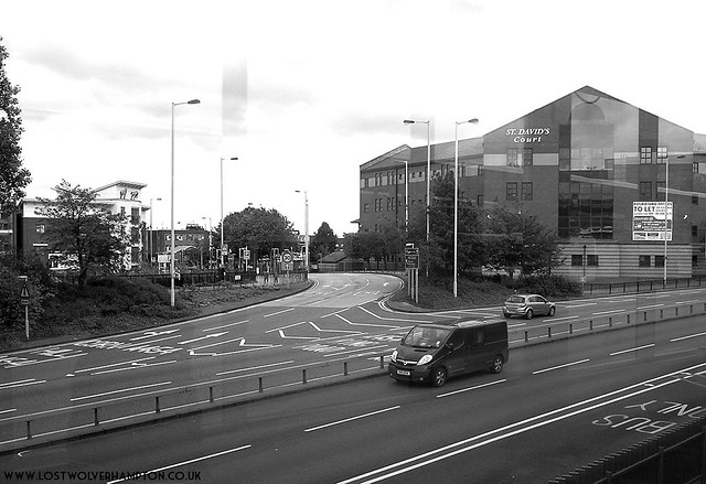 The view across the Ring-Road looking down Horseley fields from the Bus Station 2014.