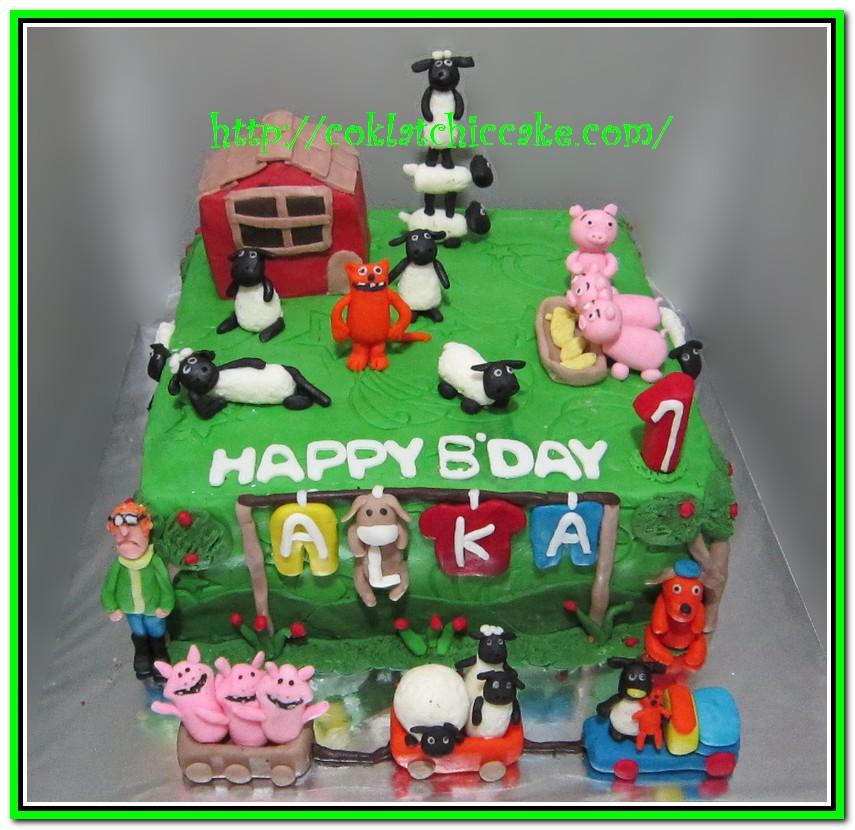 Kue ulang tahun shaun the sheep