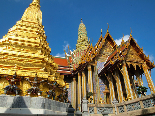 Wat Phra Kaew, the Temple of the Emerald Buddha in Bangkok
