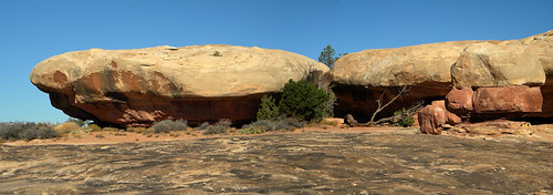 Mushroom Cap Rock Formations in Rock Textures in Canyonlands National Park, Utah