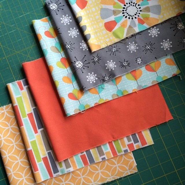 The Michael Miller fabrics in Pointed