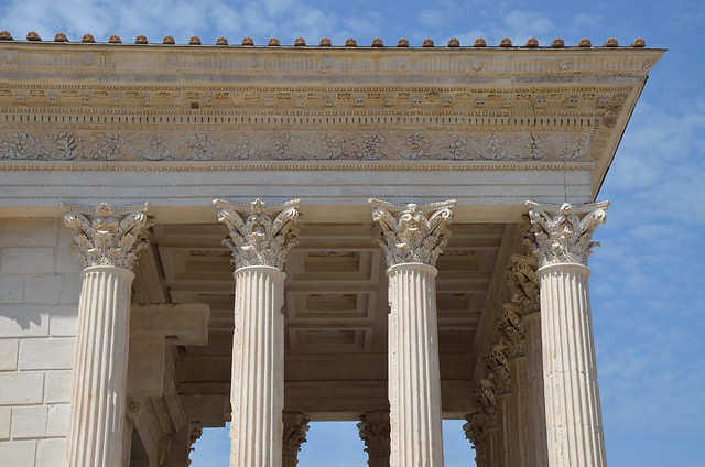 The Maison Carrée, 1st century BCE Corinthian temple commissioned by Marcus Agrippa, Nemausus (Nîmes, France)
