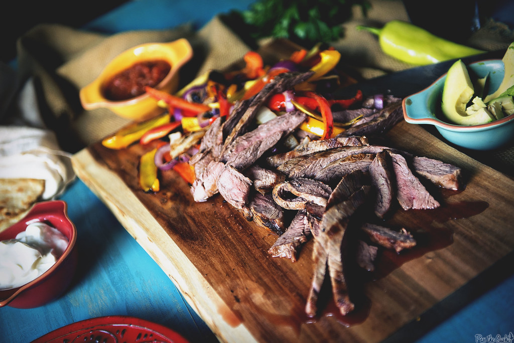 Beer Marinated Steak Fajitas || see this and more meaty recipes at GirlCarnivore.com