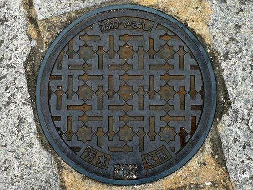 Okayama, Okayama pref, manhole cover 4 (岡山県岡山市のマンホール4)