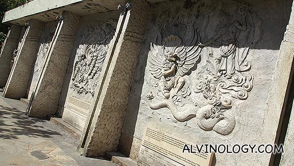 Balinese wall motifs