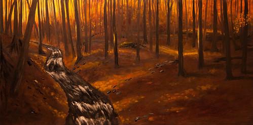 Autumn woods pano 4