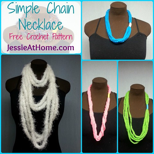 Simple Chain Stitch Necklace Free Crochet Pattern Jessie At Home