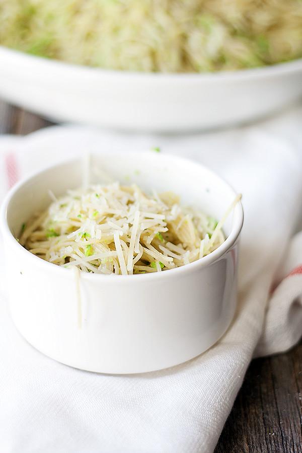 capellini with broccoli pesto